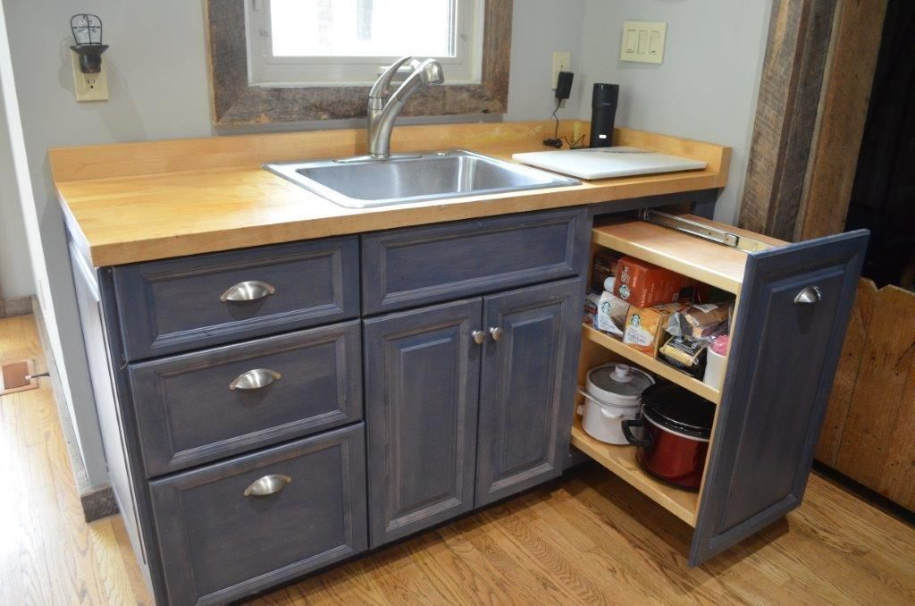 Custom cabinets, prep area