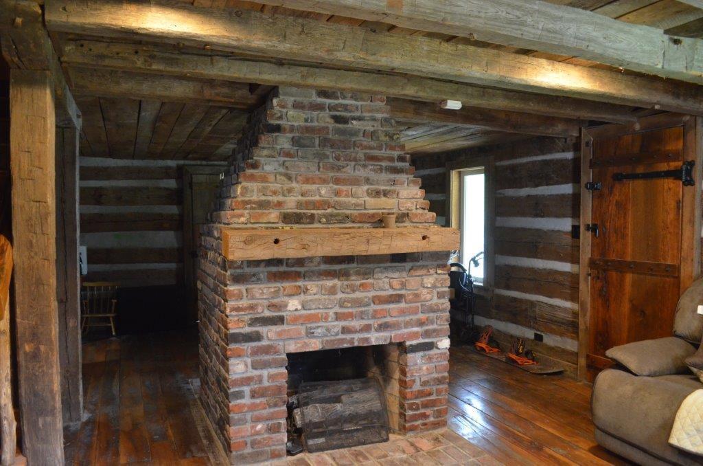 Original restored fireplace