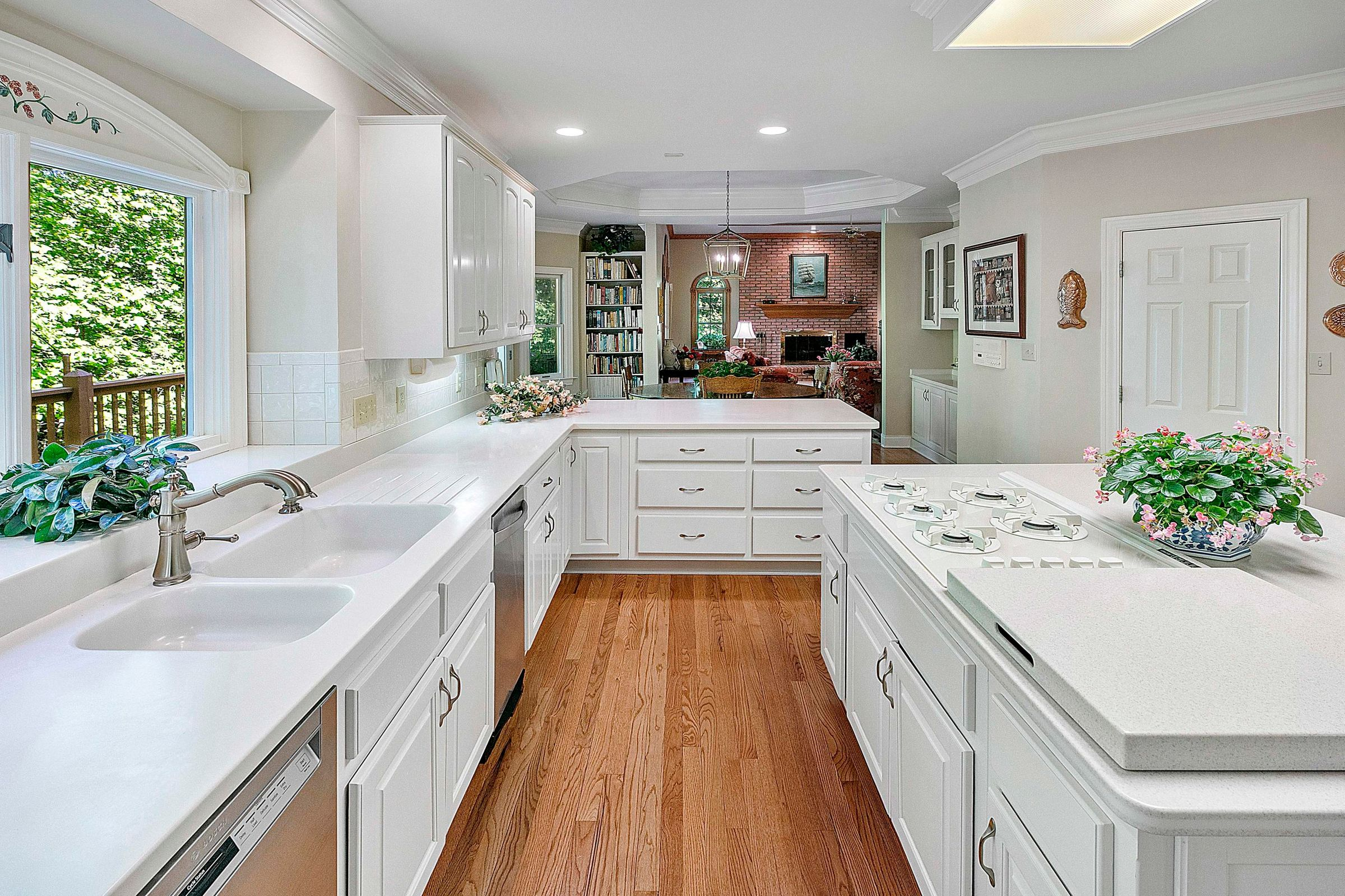 kitchen to family rm view