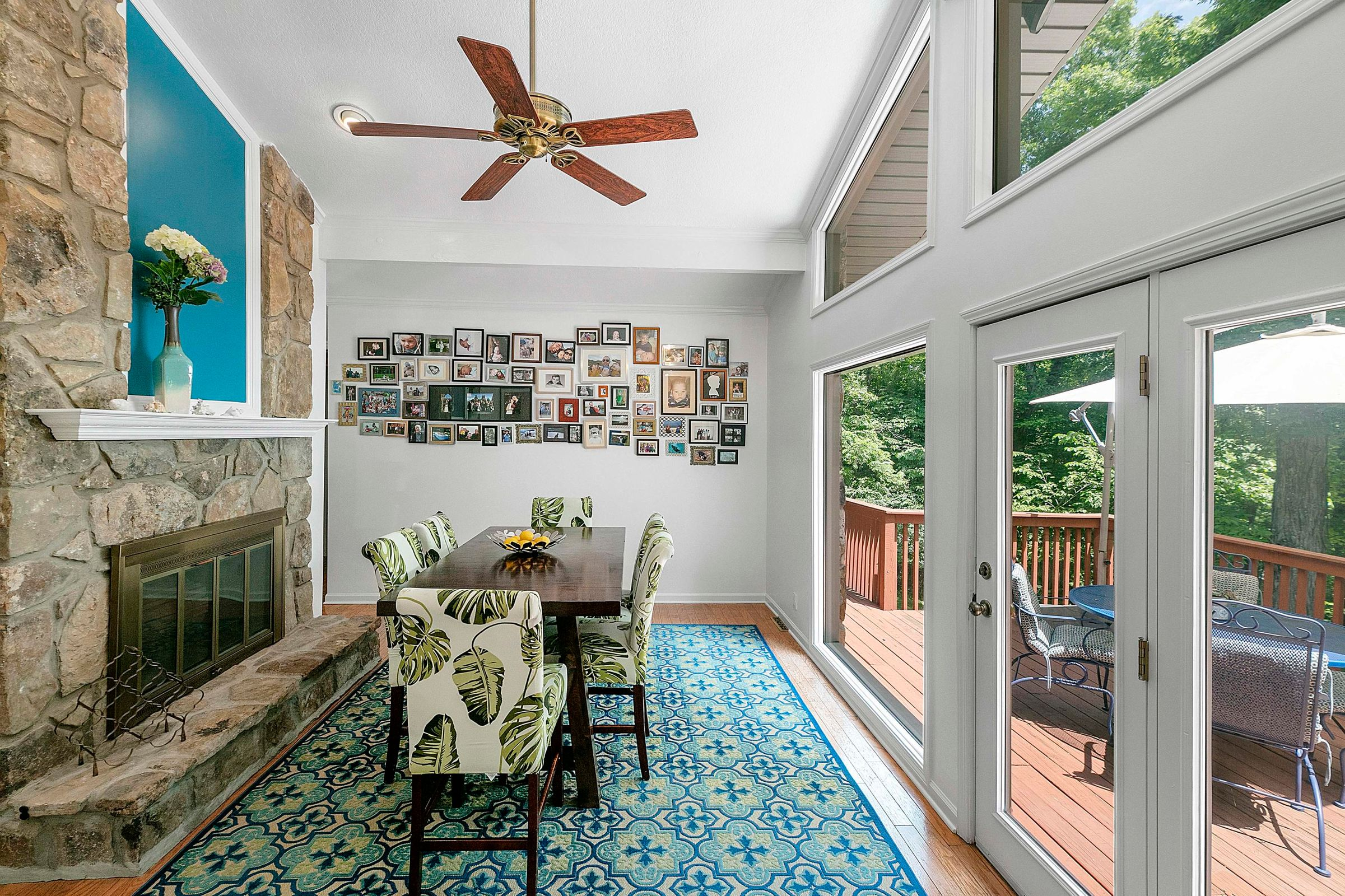 Family/Dining Room with expansive Deck