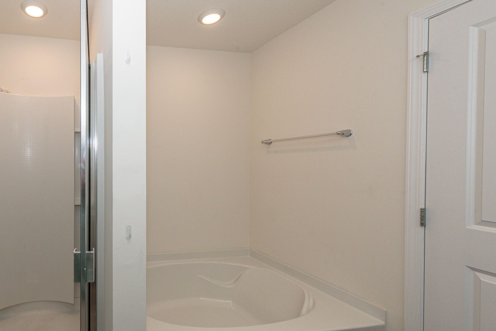 Tub and shower in the master bath