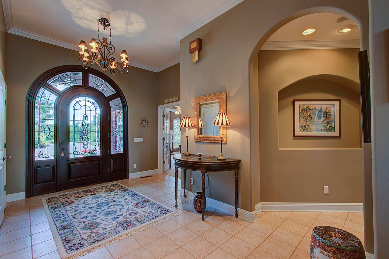 Custom Front Door & Foyer