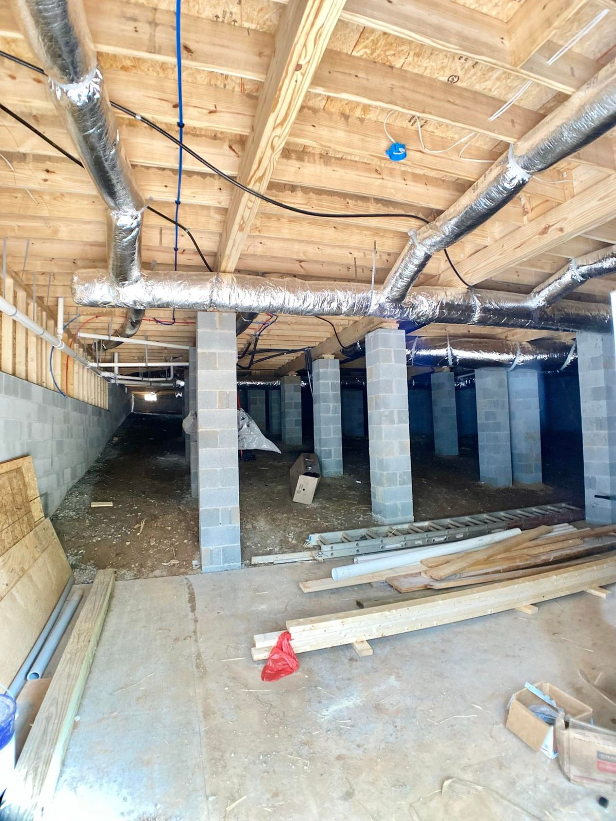 Storage area in Crawl space