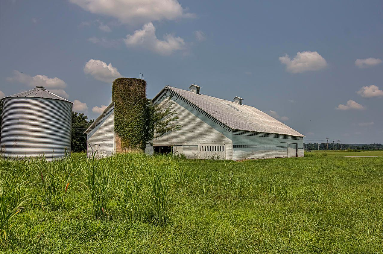 Barn with Grain Silo