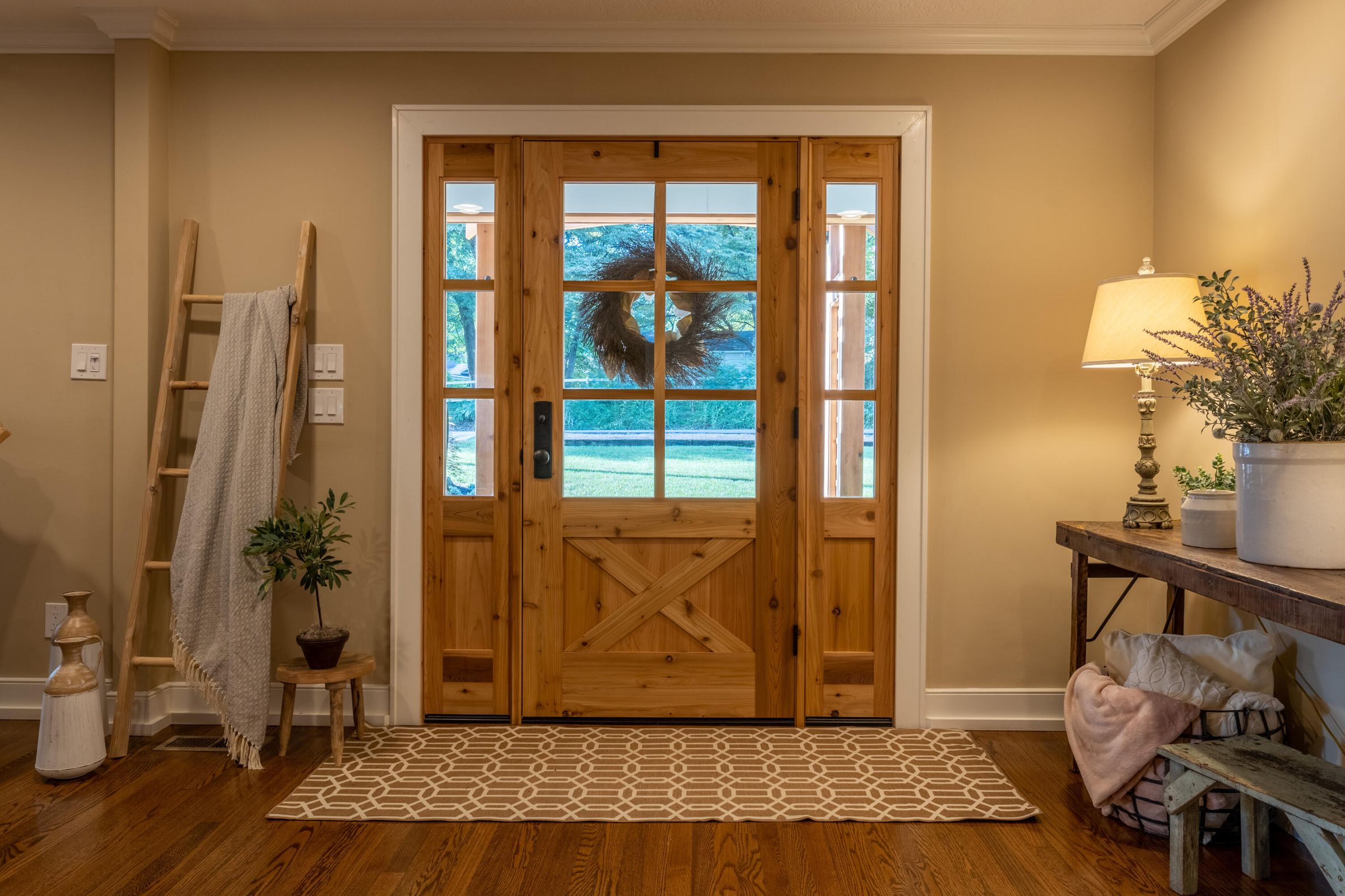 Warm and Inviting Entry