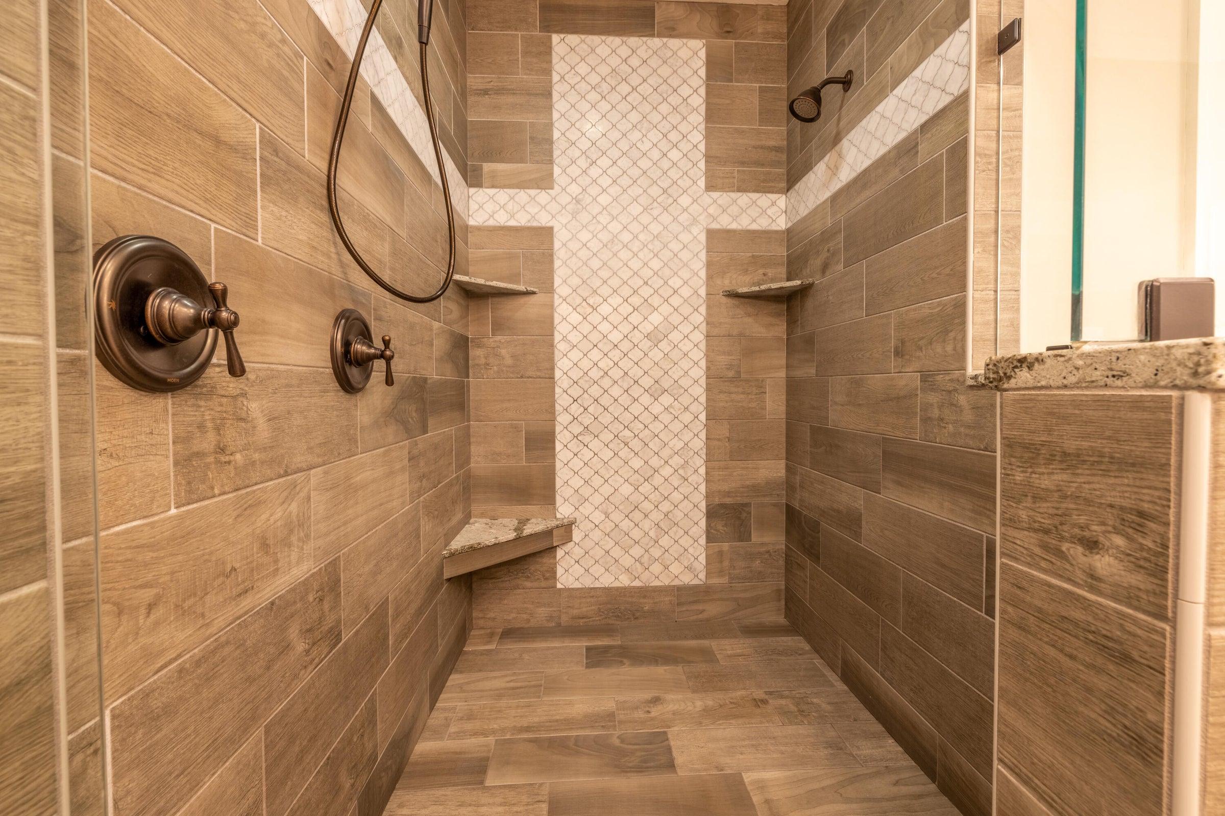 Tile Shower in En-Suite