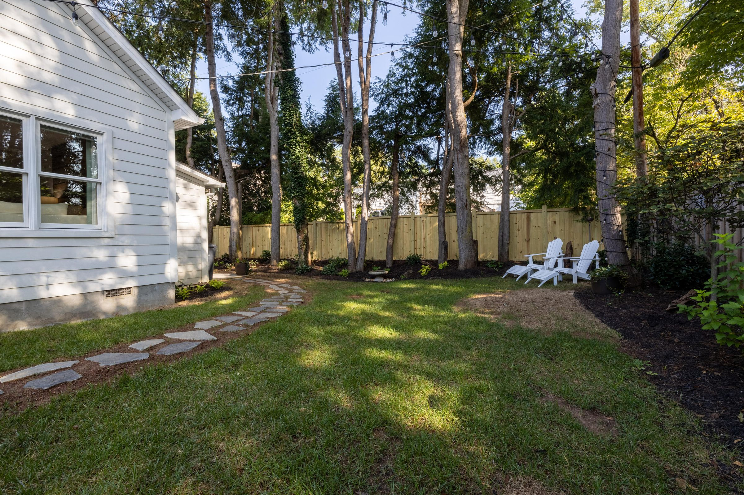 Backyard with New Landscaping