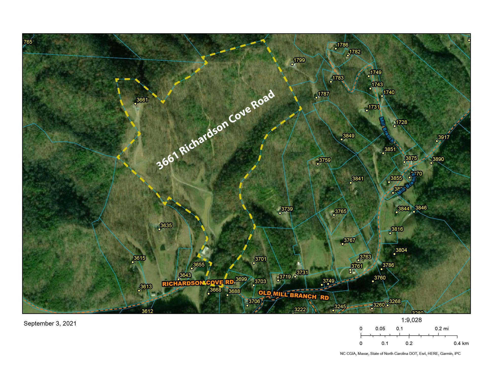 3661 Richardson Cove Rd GIS Map
