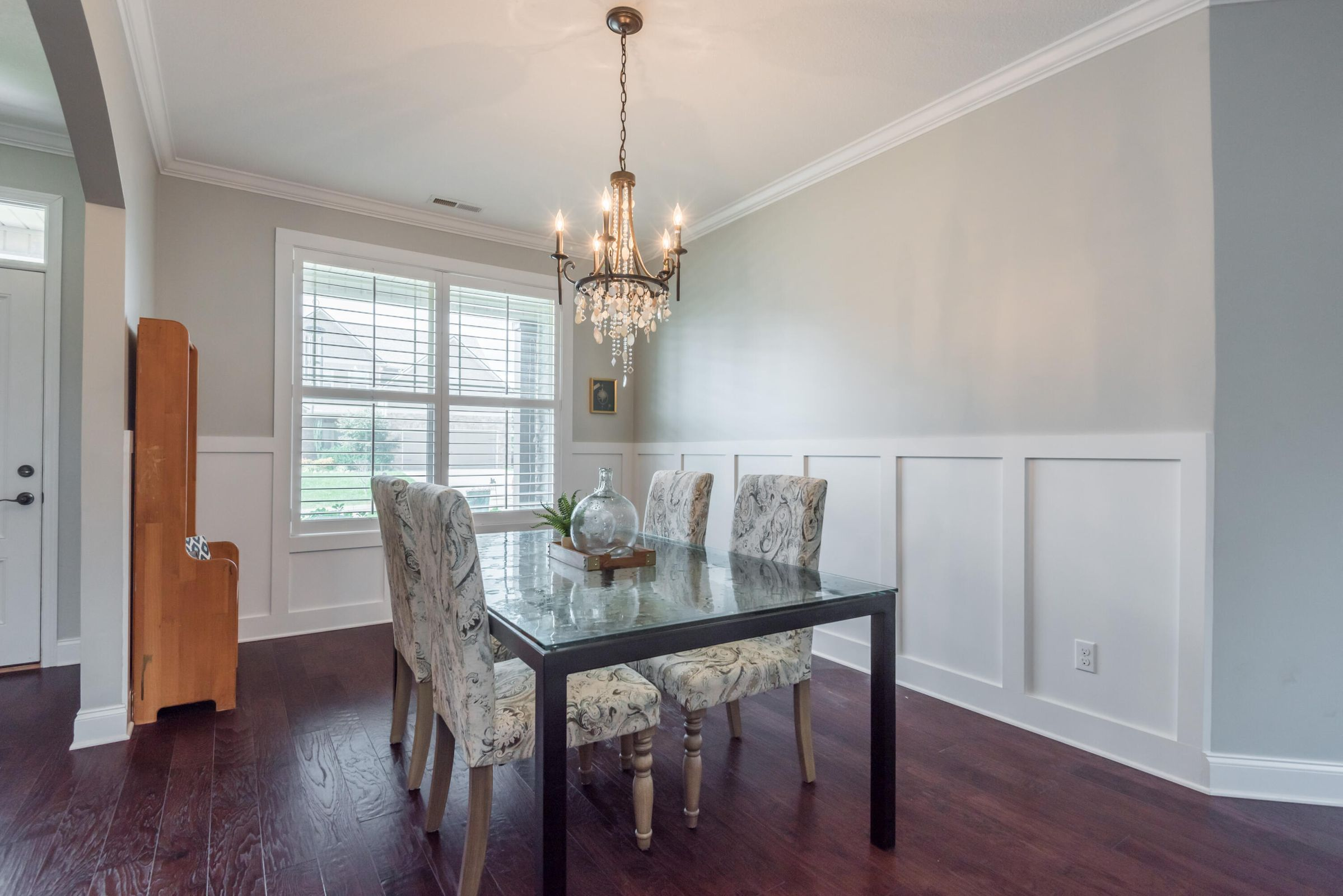 Beautiful Dining with Wainscoting