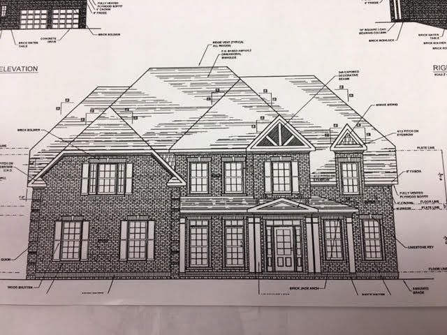 READY THE END OF JUNE BY KNOXVILLE'S BOUTIQUE BUILDER, HEALY HOMES! HIGH-END FRENCH COUNTRY WHITE WASHED BRICK EXTERIOR!!
