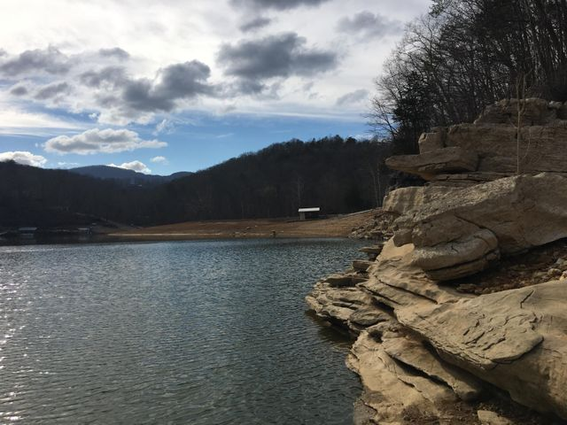 Norris lake - at the base of the lot.