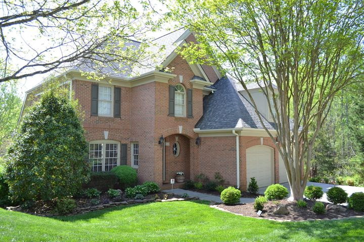 Custom built all brick 3650 Sq.Ft. 5 BR, 3Full & 1 ½ Bath 2 sty basement culdesac home w/Master on the Main, bonus, huge rec rm, elegant LR on largest lot in Wyndham Hall W/ Pro designed Stone & Perennial pvt garden w/ water feature & woods to side!