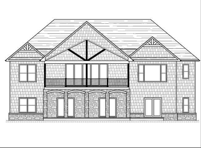 View of Elevation facing the lake