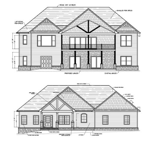 Back Lakeview of Home and front elevation of home