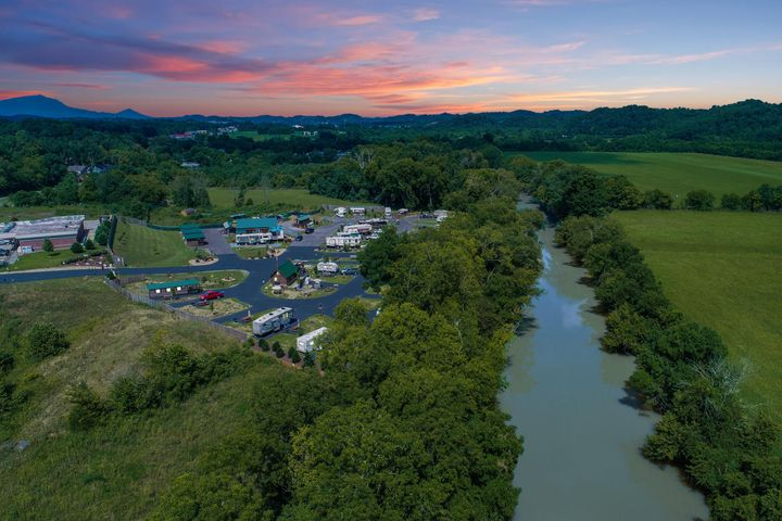 Drone Photo of Campground
