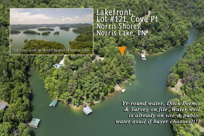 Lot 121 Cove Point, Sharps Chapel, TN 37866