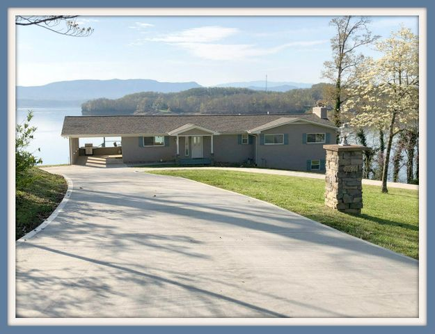 MUST SEE! This beautiful home sits on the main channel of Douglas Lake, while also providing a breathtaking view of the Great Smoky Mountains. This home has been completely redone, inside and out, by the current owners. An open concept provides a natural flow from room to room. High end materials throughout from the floor to the ceiling. Options to entertain large groups of company with the sitting areas, deck, and patio. Or it could be your private lake house getaway on a quiet street. This home also provides income opportunities as it has been successfully rented in the past. Property already has a dock permit on it. Come see your future lake paradise today!
