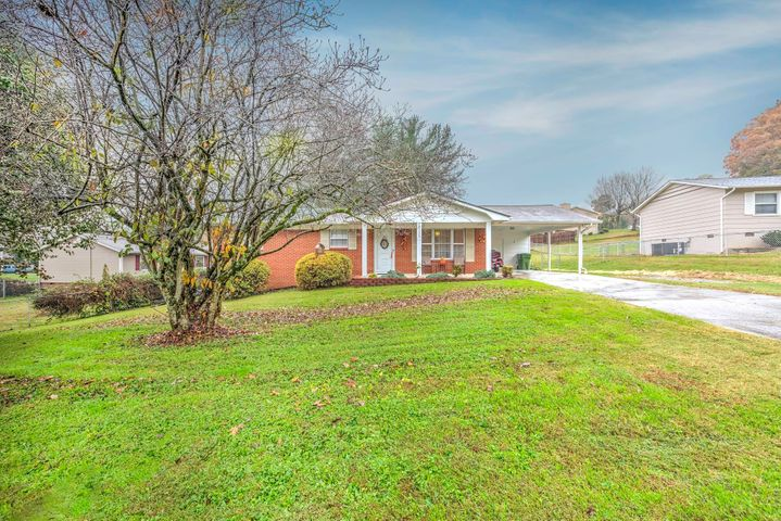 OPEN SUNDAY 11/18 2-4PMImmaculate ranch on level lot, fenced backyard, workshop w/electricity, lscreened porch, Berber carpet, some updates to bathrms & kitchen, covered carport ,utility room, large eat-in kitchen , all appliances to remain - inc refrig , washer & dryer, large great room , hall guest bath &1/2 bath off master, utility room off carport holds washer & dryer extra storage ,Workshop  is a great Man Cave with over head door and ramp and also lean-to shed, covered patio and separate concrete slab where you could add a fire pit  or bird bath and bird feeders - gorgeous lot! New water line installed from street to house,  Come see this affordable home in the Heart of Halls!   Walk to subdivision pool - membership is required to use pool - visit Murphy Hills Swim Club facebook pag