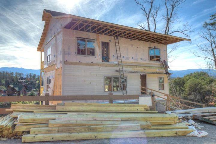 New Cabin in Pigeon Forge with a projected completion date of Feb- March 2019.  7 Br/ 6 Ba Nestled in Bear Cove Falls. Phase 2. Close to Gatlinburg Golf Course and Dollywood. Fully Furnished Cabin. Very spacious rooms. Game room. Theatre Room.  Extensive decking. Neighborhood Pool. Based on existing properties in the neighborhood this will be a great income producing property but could also be a primary residence.  Taxes yet to be determined. Buyer should verify all info.