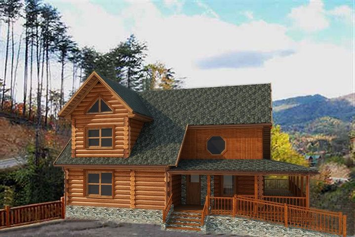 ***PROJECTED RENTAL INCOME OF $85,000.00*** Pre-Construction true D-Log -Log Cabins in the premier resort of Bear Creek Crossing. This new cabin will come completely outfitted and ready for the rental program. The 5 bedroom nearly 2800 square foot cabin will have 5 master suites, granite countertops in the kitchen, LVP (Luxury Vinyl Plank) in the living room and kitchen, tile in the bathrooms, carpet in the bedrooms, fireplace in the living room, flat screen TVs throughout, and a hot tub on the back deck. The gated community of Bear Creek Crossing offers indoor and outdoor pools, 9 hole mini golf course, 65ft water fall, mountain view, and all underground utilities. Buyer can choose to build this home on any lot between 108 - 123.