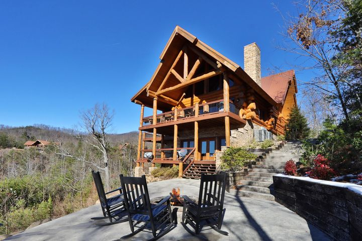 One of the finest homes in the Gatlinburg area this 6 bedroom log cabin would make an excellent overnight vacation rental or personal home. Sitting on 2.76 acres and looking out at unobstructed views of the Smoky Mountains this expertly crafted log cabin will be sure to impress. Large logs, expansive decks, stainless steel appliances, wood floors, and countless other luxury features create an inciting opportunity for the buyer looking for the best the area has to offer.