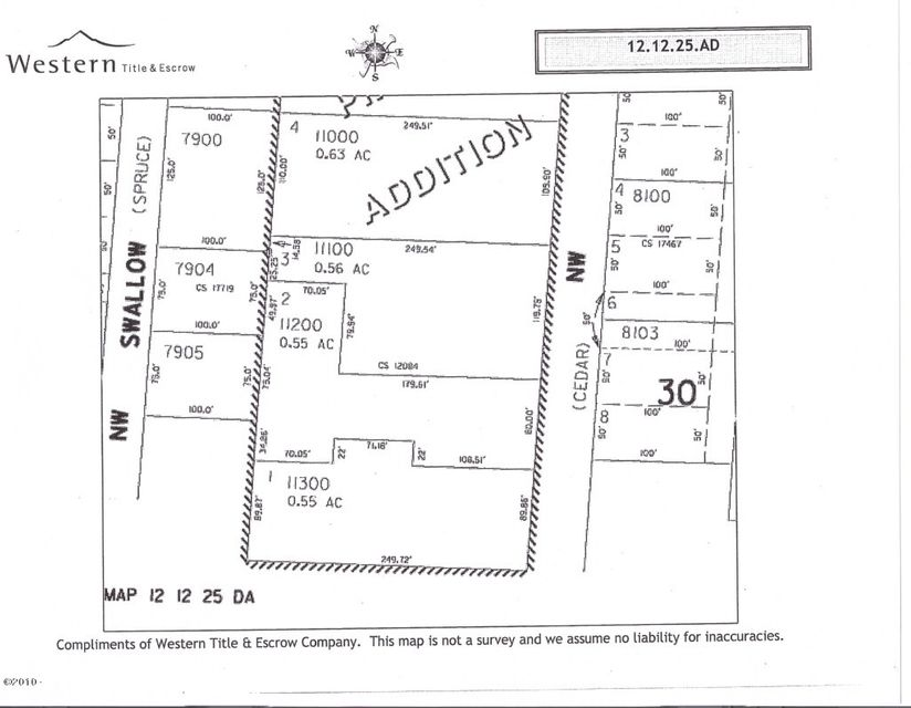LOT 1 NW Crane St, Seal Rock, OR 97376 - Map