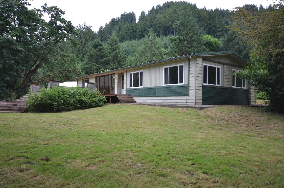 17394 E Alsea Hwy, Tidewater, OR 97390 - Exterior from river side.