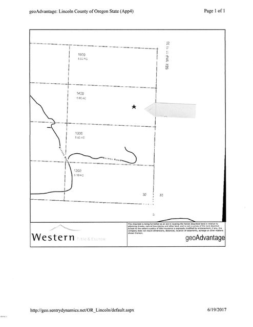 TL#1400 SE 98th St, South Beach, OR 97365 - Plat Map 1400
