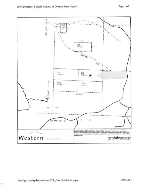 TL#800 SE 98th St, South Beach, OR 97365 - #800 Plat Map