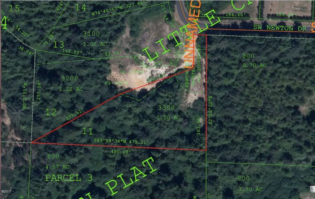 LOT #11 SW Newton Dr, Waldport, OR 97394 - Aerial Photo of Lot