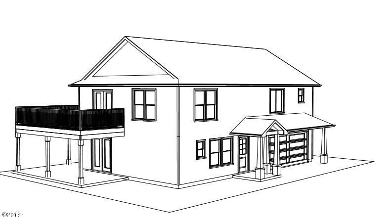 225 NW Sunset, Depoe Bay, OR 97341 - right front elevation