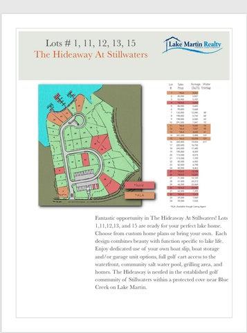 Lot 11 The Hideaway @ Stillwaters, Dadeville, AL 36853