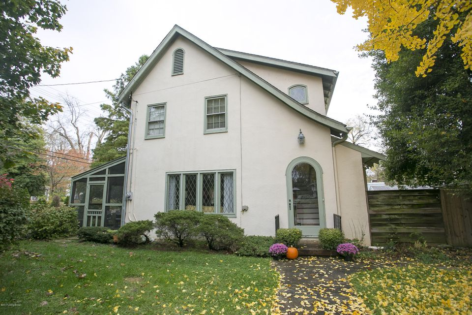 Charming English Cottage in desirable Crescent Hill. Character galore in this home with its arched doors and hallways and iron crossed window panes. Hardwood floors throughout. The cozy living room has a fireplace with gas starter. There is a screened-in porch, one car garage, loads of closets, a large room off the master that is perfect for...