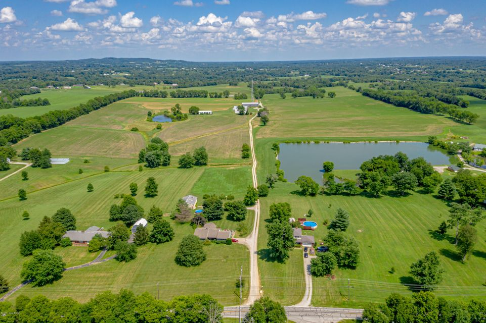 Prime development farm just 1 mile from I-64 and frontage in 2 spots on Mt Eden Road and frontage on Nations Road on the back of the farm.  This 150 acres has income production now with a cell tower contract that goes with the purchase, a ranch home that brings in rental income, another manufactured home and a bunk house.  The land is nice...