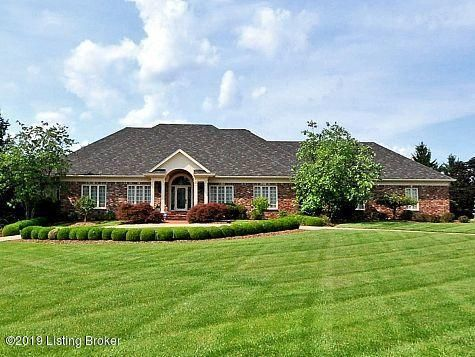 Handsome sprawling ranch in Estates of Hunting Creek. Gorgeous cherry library with stained glass ceiling and hardwood. Large owner's suite with luxe bath and sunroom/sitting room. Massive great room with soaring ceilings, inlaid wood floors, fireplace, and wet bar. Eat-in vaulted kitchen. Formal dining room. Two additional bedrooms, full bath,...