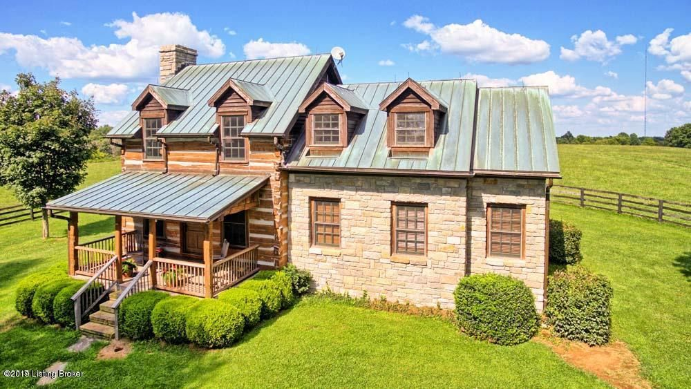 Gorgeous Green Hill Horse Farm. Rare opportunity to purchase established horse property on 50 acres off W Hwy 42 surrounded by famous Kentucky farms like Woodland, Lands End and Ashbourne. Property includes: Spectacular Log and Stone House overlooking pond, plus an original Farm House in good condition, and a separate Office/Guest House. Farm...