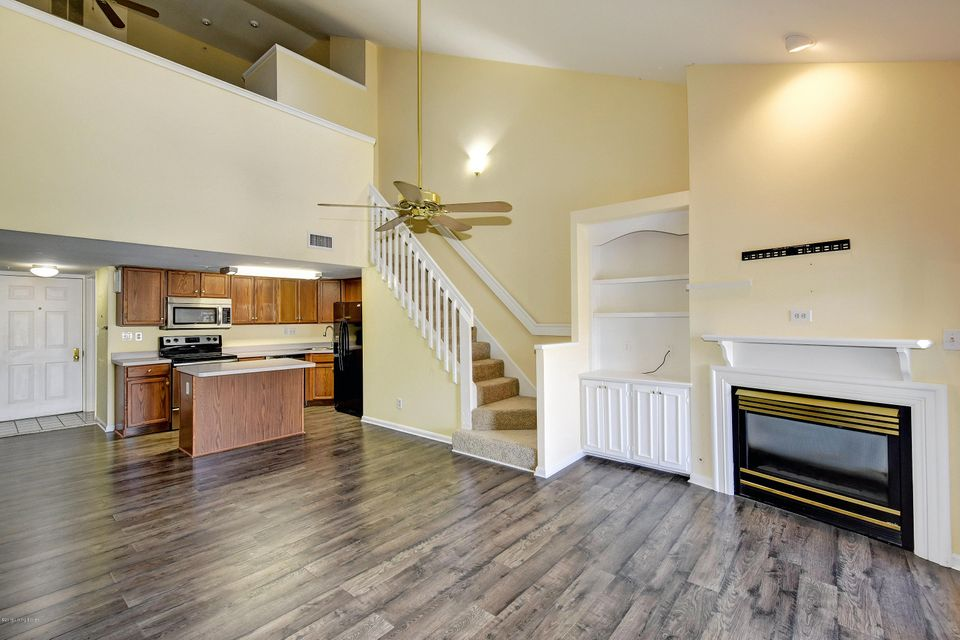 This 1 Bedroom and 2 full Baths condo is beautifully updated and awaits your personal touch! Features of this condo include a true loft floor plan with a vaulted great room with built in cabinets, solid surface floors, gas fireplace, planter shelves, skylights, and a balcony with a view! The eat-in kitchen has oak cabinets with an island and...