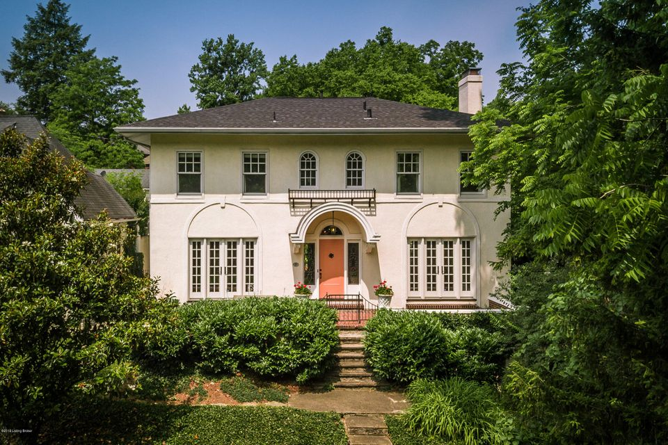 Superb opportunity to own one of the more distinctive homes in sought-after Cherokee Triangle! Not many offer the incredible park views enjoyed from many of the exquisite entertaining areas of this home. The floor plan is truly meant for entertaining with great flow from the front terraces to the private rear court yard like patio. Classic...