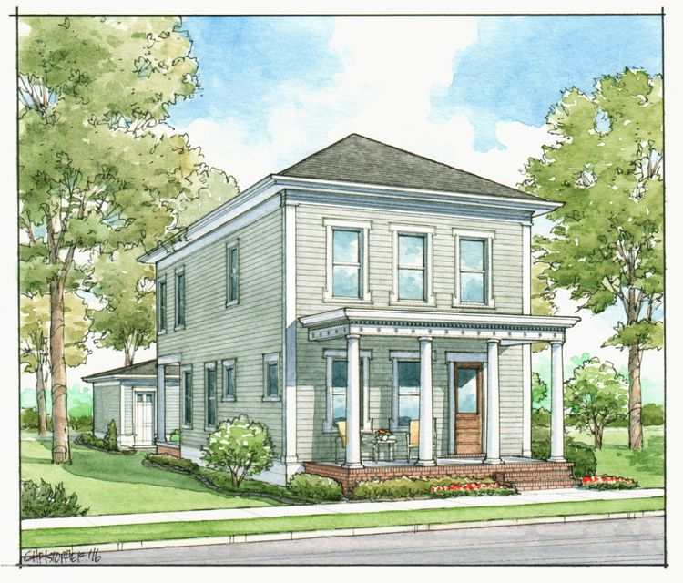 Welcome to the expanded version of ''The Hillsdale'', a popular plan by The Ramage Company.  This plan is efficient, imminently relevant, and adaptable to a variety of lifestyle needs.  Outdoor rooms include covered porches in the front and rear along with a spacious, intimate courtyard positioned between the home and detached garage.  The...