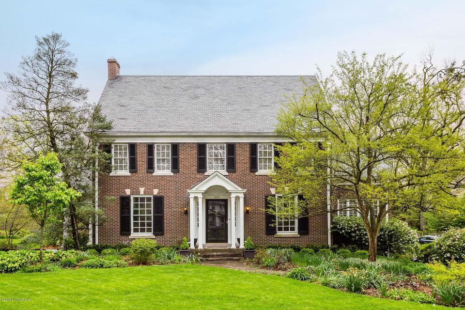 Best of both worlds!  Grand home in a park-like setting just steps from the best of the Highlands. Built in 1926, on one of the Highland's premier streets, the classic colonial features a timeless design in a private setting featuring gardens and mature trees. Yet it's just steps from Douglass Loop Farmer's Market, all of the activity of Bardstown...