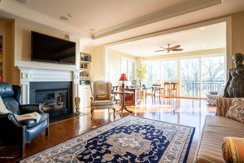 This prime unit on the 4th floor has the best location available for units in Audubon Woods. With its direct southern exposure, you can enjoy both sunrise and sunset daily from the Juliet balcony off your sunroom over the treetops by the 8th hole.  This open, one-level layout has a living room, dining room, eat-in kitchen, sunroom, 2 bedrooms,...