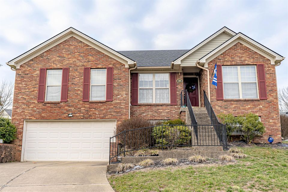 Take a look at the convenience of Hunting Hills with all city amenities, schools, fairgrounds and 3 minutes to I-64 and on a cul-de-sac.  1400 sq ft plus an additional 750 sq ft in lower level and only lacking flooring.  Easy finish.  This home also has fireplace in large Family Rm with vaulted ceiling.  Nice size eat-in Kitchen and main level laundry.  Roomy Master with fabulous Master Bath (two walk-in closets).  This garage has excellent storage space.  Potential is easy to have 4 bedrooms and over 2100 sq ft.  Nice private deck just waiting to put the grill out.