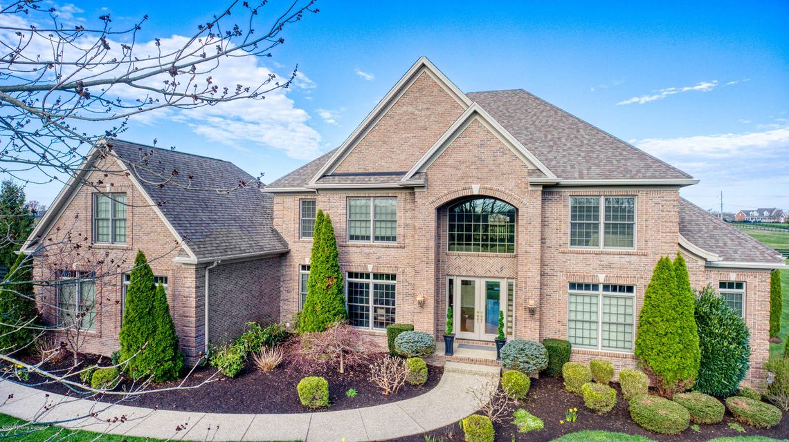 AWESOME LOCATION! No subdivision, last home on a private, dead-end street, sitting on 2.38 acres! Gorgeous equestrian surroundings in this open-concept, estate brick 2-story, walk-out with over 8700 sq feet of living space. Total square footage is over 11,000 square feet, with unfinished 2nd story space (900 sq ft), below ground (500 sq ft)...