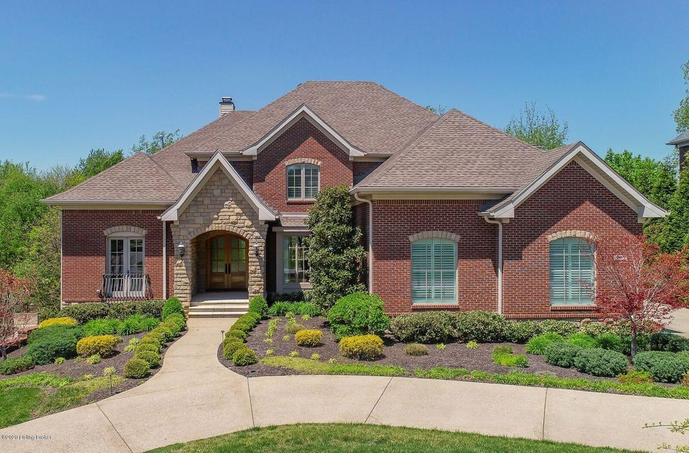 Blacketer Company built estate home on a secluded wooded cul-de-sac lot in Wolf Pen Springs. Absolutely no expense spared in this custom six bedroom, four-and-one-half bath home. Upgraded granite, travertine, electronics, appliances, and, light fixtures on all levels. FIRST FLOOR features an open floor plan with floor to ceiling windows in the living room with gas fireplace, a large wood paneled office, dining room with tray ceilings, and, custom wallpaper, a powder room, breakfast room, hearth with second fireplace and site finished hardwood throughout! The kitchen is gorgeous with custom cabinets, upgraded appliances, and, gas stove with double oven. The large island with stunning granite countertops makes this the perfect home to entertain. Walk out to the wrap around Trex-floored