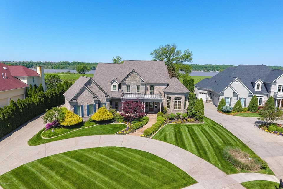 Extraordinary opportunity for unique riverfront property. This stunning custom-built home is situated on rare 4.4-acre hillside with sweeping Ohio river views and river frontage located at the end of a quiet cul-de-sac in the quiet enclave of Innisbrook Estates in Prospect. High and dry, none of the improvements are in the flood plain. The...