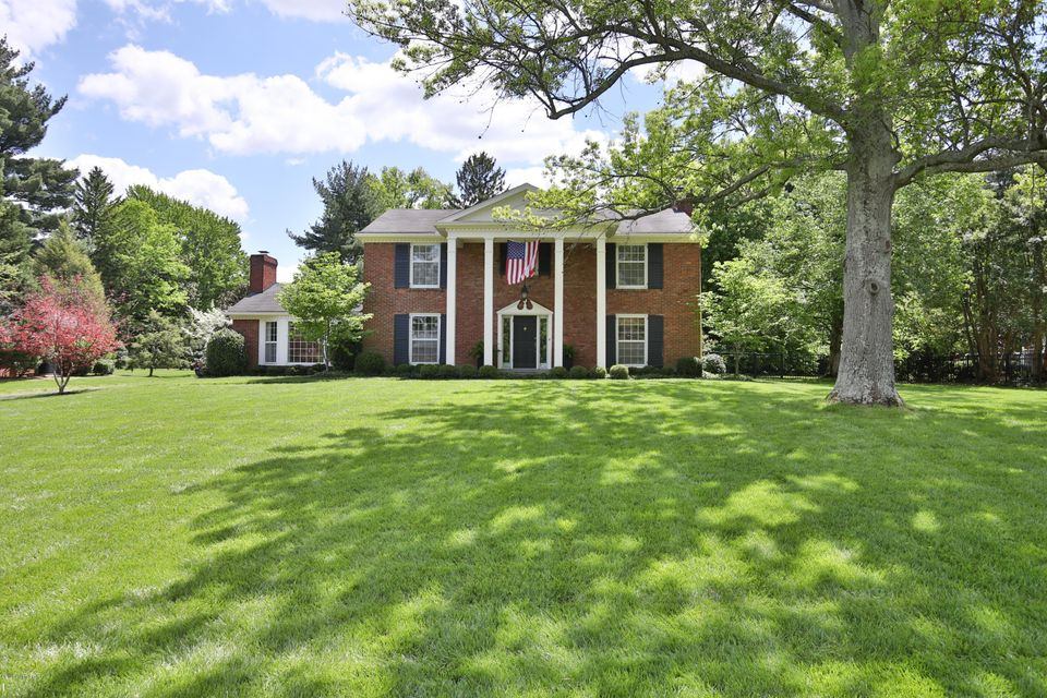 Classic two story center hall colonial located on a picture perfect half acre private lot in Glenview.  This gem has been in the same family since it was custom built in 1961.  Upon entering the front hall the large living room is on the right and is centered on the fireplace.  The formal dining room is on left off foyer, which is open to the cozy family room featuring the second fireplace and pegged wood floors.  Beautiful hardwood floors throughout first and second floor.  Original kitchen gives you the opportunity to design your own dream kitchen.  Four nice size bedrooms on the second floor loaded with with ample closet space ( 9 closets).  Master bathroom shines with recent renovation.  Partially finished basement (recently finished)  featuring the third fireplace.