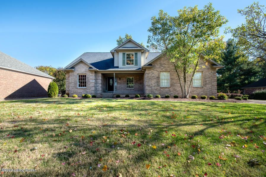 Windy Hills. 4 Bedrooms plus bonus room. Covered front Porch welcomes you to this home. Enter the room-like foyer with refinished wood floors. Vaulted Great Room with Fireplace flanked with windows plus built-in bookcase. First Floor Owners Bedroom with on-suite bathroom and walk-in closet. Covered front porch. Large Eat in Kitchen with breakfast bar, Loads of Cabinets in Kitchen, new appliances. Pantry and granite counter tops. Formal dining room or could be home office, music room or library. First floor laundry room located off garage can be mud room with closet, cabinets and folding area. Second floor overlook of Great Room.