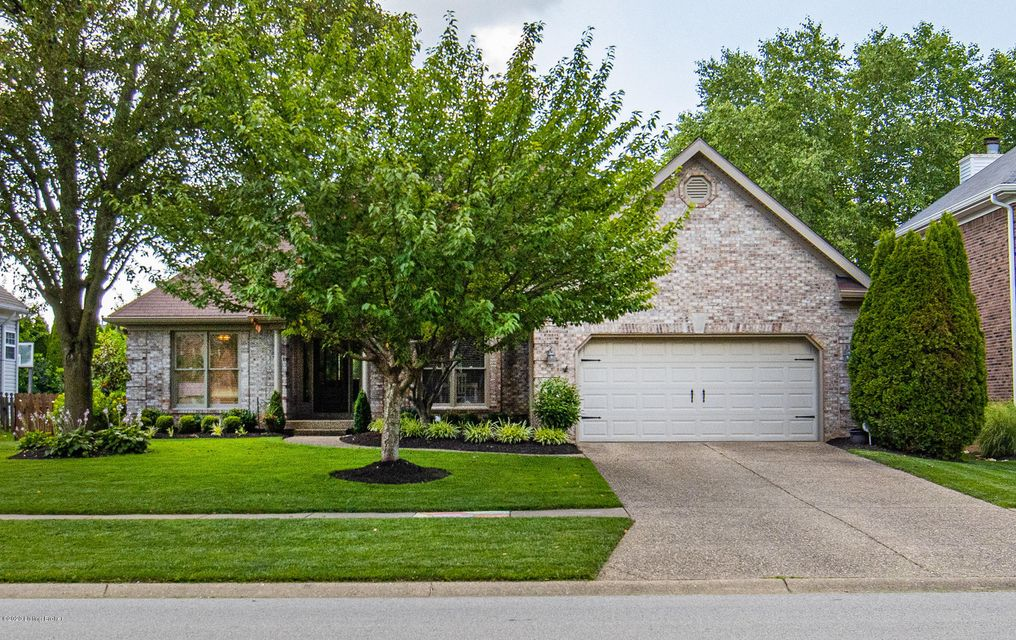 This gorgeous brick ranch is located in the desirable FOREST SPRINGS and has over 3,350+ square feet of living space with a one of kind backyard oasis! Enter through the front door into the foyer where you will overlook the large living room area with gas fireplace and custom built in entertainment cabinetry and full size dining area with...
