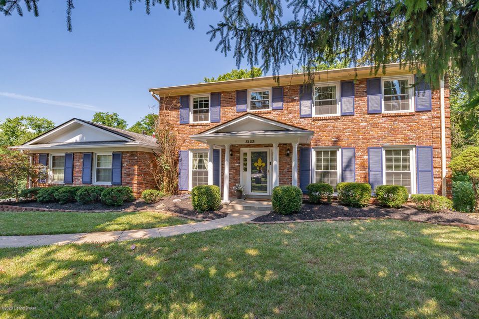 Absolutely beautiful 2 story home in Glenview Hills.  Home has all the features for a growing family.  Very open floor plan. Stunning kitchen with custom cabinets with solid stone countertops. Plenty of room for entertaining. Nice size family room with fireplace.  Huge master suite with sitting area and cozy fireplace. 2 oversized walk-in closets.  Elegant master bathroom.  Family room, kitchen, and master suite share a beautiful view of the in-ground pool.  All bedrooms on 2nd level are a great size.  Two full baths, hardwood floors.  Finished lower level has bar area, 2nd family room with fireplace, office, game area, full bath, and large storage area.  Back yard features custom in-ground pool.  Covered porch area for entertaining. Nestled in a cul de sac and has wooded lot for privacy.