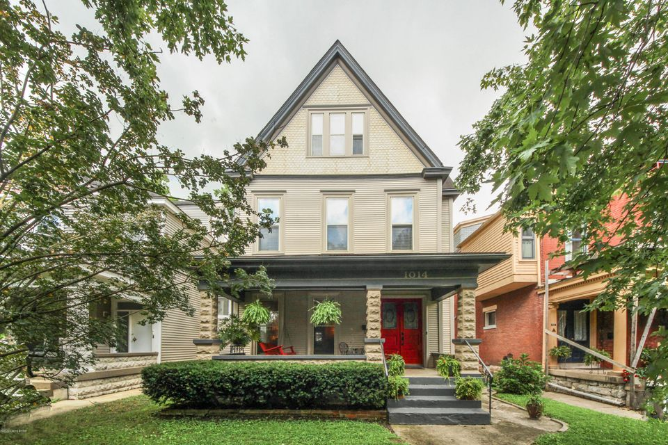 This wonderful Highland's home has been well maintained and thoughtfully renovated. The important charm has remained from the front porch swing to the beautiful hardwood floors, and mouldings. While the new Kitchen makes it super functional and convenient with an island, a coffee nook and a built in banquet seating area next to the bar area...